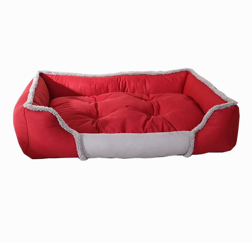 Medium GulesKYCD Dog bed Dog mat cushion House pet nest Pet supplies Autumn and winter warm dog bed removable and washable suitable for cats dogs