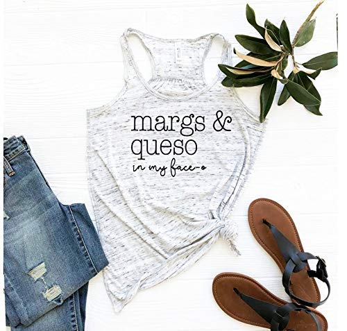Fiesta Bachelorette Shirts - Margarita Shirt - Margs and Queso in my - Cabo Clothing