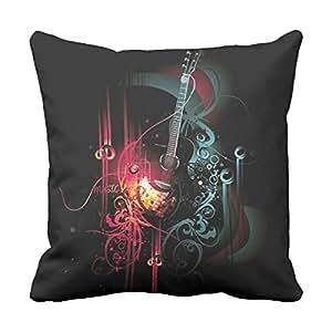 """lightinglife Música decorativo Algodón guitarabstract decorativo almohadas cojín """"Home 20X 20"""