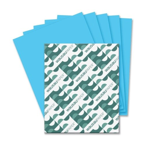 Wholesale CASE of 15 - Wausau Astrobrights Colored Paper-Astrobright Paper, 24Lb, 8-1/2''x11'', 500/PK, Lunar Blue by Wau (Image #1)