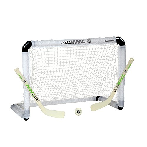 Franklin Sports NHL Hockey Light-Up Mini Goal, Stick and Ball Set