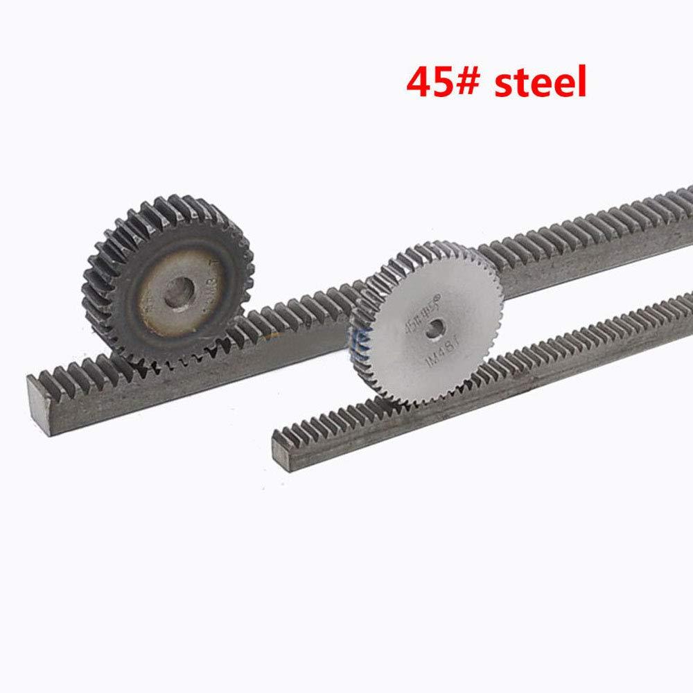 2Pcs 1.0Mod 12x12x1000mm Gear Rack 1.0 Module 45# Steel Heavy Duty Gear Rack
