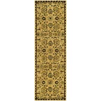 Safavieh Taj Mahal Collection TJM113C Handmade Traditional Taupe and Multi Wool Runner (26 x 8)