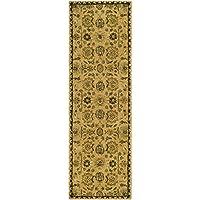 Safavieh Taj Mahal Collection TJM113C Handmade Traditional Taupe and Multi Wool Runner (26 x 8)