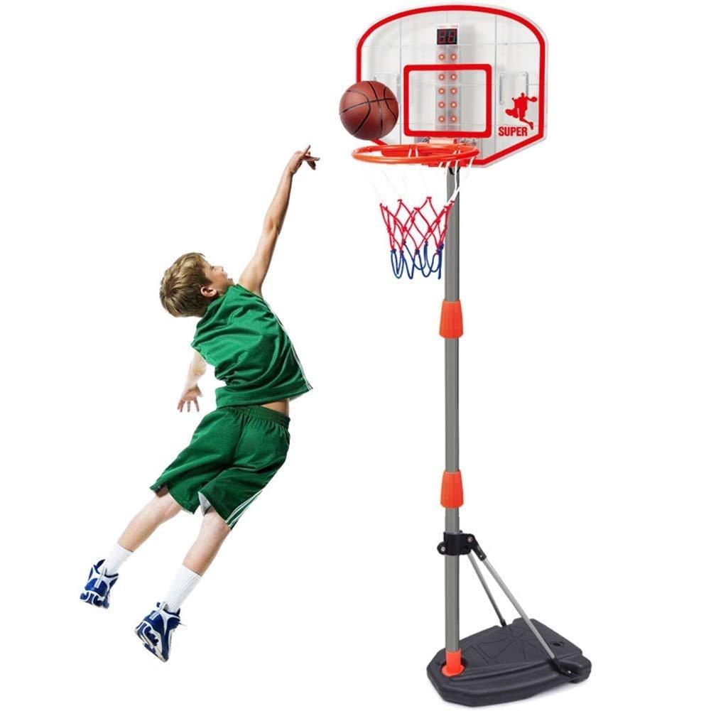 ZAIHW 調節可能な高さのポール屋外屋内子供のおもちゃを備えたミニフープバスケットボールシステム