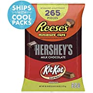 HERSHEY'S 5 Pound Candy Assortment, Bulk Chocolate Candy , HERSHEY'S, REESE'S, and KIT KAT, 265 Pieces