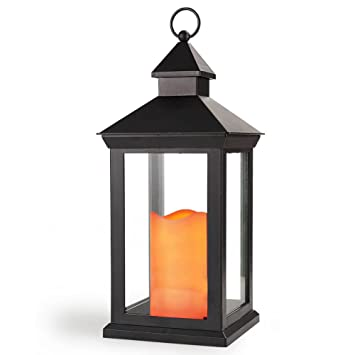 Amazon bright zeal 14 tall vintage decorative lantern with bright zeal 14quot tall vintage decorative lantern with led candle outdoor lanterns decorative tall aloadofball Gallery
