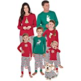PajamaGram Matching Family Christmas Pajamas - Red/Green, Men's, L