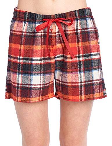 d4fabfec79 Ashford   Brooks Women s 2 Pack Soft Flannel Plaid Pajama Lounge Boxer  Shorts - Set 5