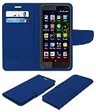 Acm Mobile Leather Flip Flap Wallet Case for Micromax Bolt Q335 Mobile Cover Blue