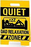 Wording on Front: Quiet Dad Relaxation Zone Inside Verse: Hope you enjoy your Father's Day, Dad. And the, roll over and enjoy it some more. You've earned it! Finish: Varnished, Glitter, A Board Style & Colour Inside Dimensions: 227 x 147mm
