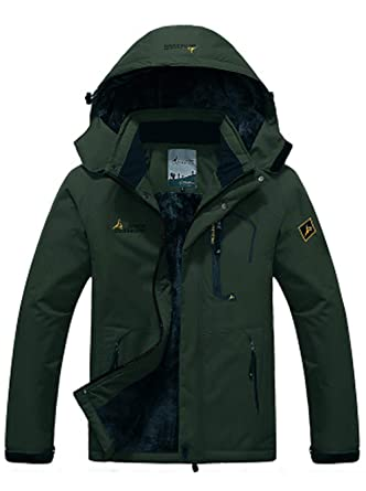19abcc0d7cee6f Amazon.com  SEFON Men s Waterproof Mountain Ski Camping Jacket Plus Size  Sport Outerwear Windproof Rain Jacket  Clothing