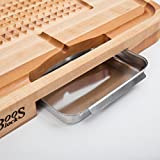 John Boos Block CB1053-1M2418225 Carving Collection Pyramid Design Reversible Maple Cutting Board with Juice Groove and Pan, 24 Inches x 18 Inches x 2.25 Inches
