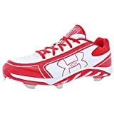 Under Armour Womens Spine Glyde ST CC Metal Cleat 11 1/2 US White/Red