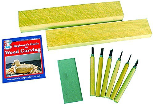 Wood Carvers Starter Kit -8pcs by Mid-West