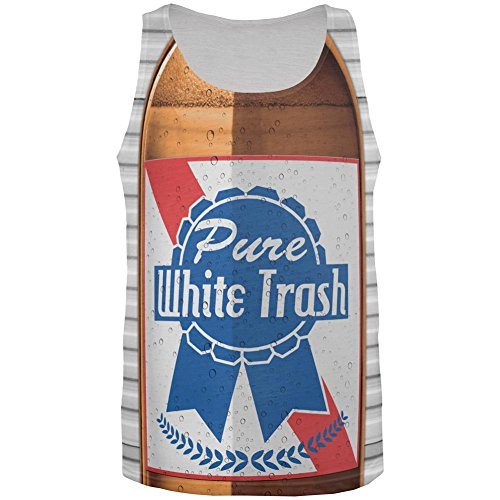 4th of July Halloween Pure White Trash Beer Costume All Over Mens Tank Top Multi LG