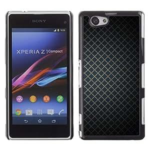 Be Good Phone Accessory // Dura Cáscara cubierta Protectora Caso Carcasa Funda de Protección para Sony Xperia Z1 Compact D5503 // Wallpaper Geometrical Square Simple Design