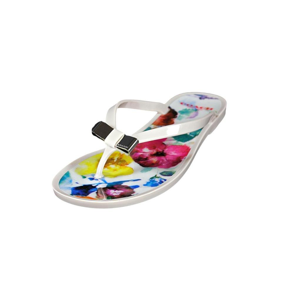 Coach Landon Jelly Women US 10 White Flip Flop Sandal
