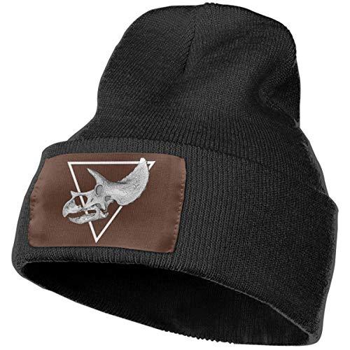 Nsjgu Triceratops Skull Knit Hat Cap for Women