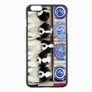 iPhone 6 Plus Black Hardshell Case 5.5inch - a lot sitting Desin Images Protector Back Cover