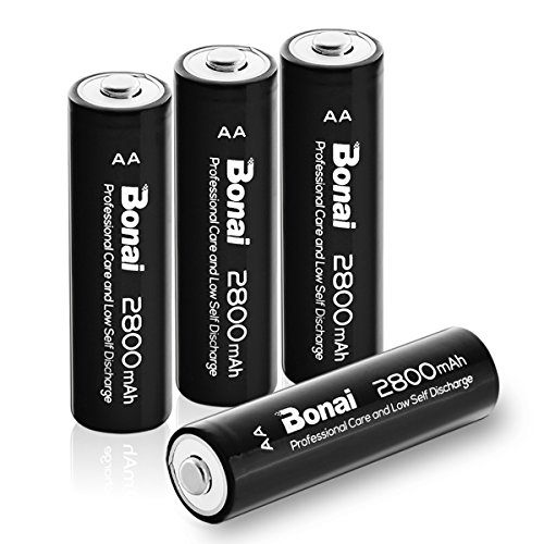 h AA Rechargeable Batteries 1.2V Ni-MH Low Self Discharge - UL Certificate ()