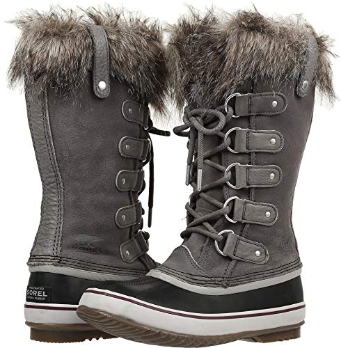 Sorel Women's Joan of Arctic Faux Fur Boots, Quarry/Black, 10.5 M US