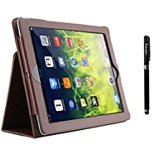 inShang Case for ipad 2 ipad 3 ipad 4 Book Folio Style cover stand With Auto Sleep Wake Function+ 1pc High end class business stylus Pen