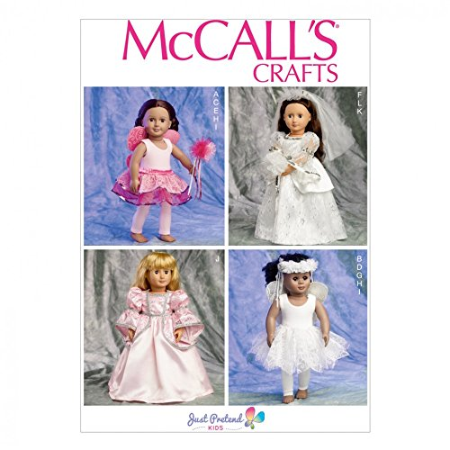 McCalls Crafts Sewing Pattern 6981 Fancy Dress Costume Doll (Dolls Mccalls Crafts)