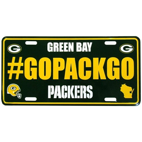 Siskiyou NFL Green Bay Packers Hashtag License Plate, 5