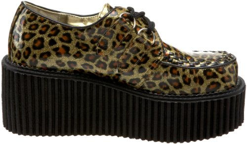Pat Cheetah Gold 208 Demonia Creeper Gltr npqX6wg8