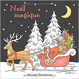 Noël Magique Livre De Coloriage Anti Stress Avec Un Fond Noir Pour