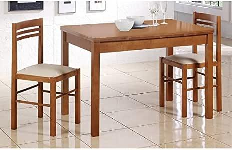 SHIITO Mesa de Cocina Extensible 110x70 cm con 2 alas acabada en ...