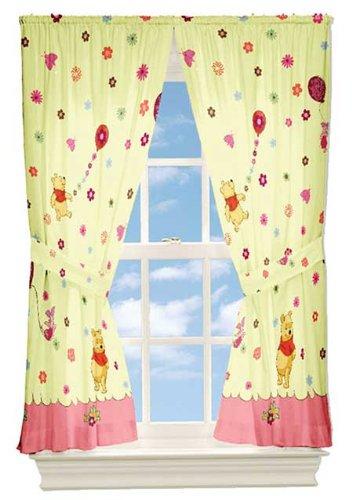 8470e8703dd0 Amazon.com  Winnie the Pooh Cheerful Friendly Window Panel Curtains ...