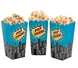 William & Douglas Ginger Ray Superhero Pop Art Popcorn Treat Boxes Party Supplies Decoration for Superhero Theme Children's Birthday Celebration, Movie Nights (16 Pack)