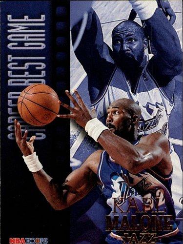 (1997 Fleer - Karl Malone - Jazz - Career Best Game - Card 338)