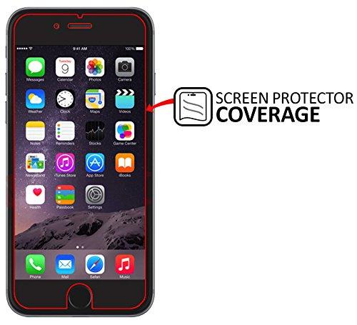 SAMAR - Pellicola Protettiva per iPhone 6 Plus / 6S Plus, Protettore Schermo in Vetro Temperato per iPhone 6 Plus / 6S Plus Apple (Glass screen Protector) - ultra sottile leggero arrotondato bordo