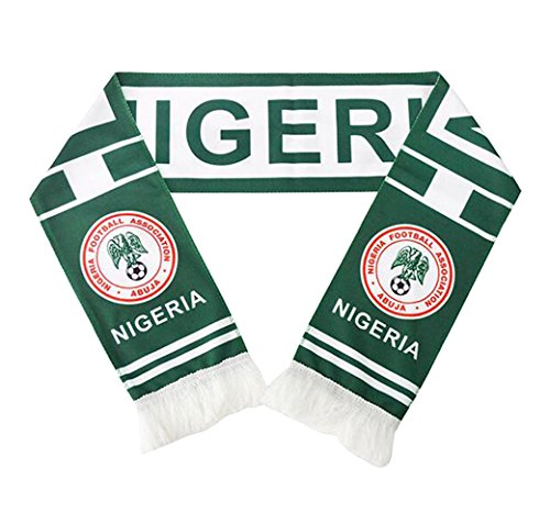 JAVI Sports FIFA 2018 World Cup National Team Scarves - All 32 Clubs to Choose From - Footbal Soccer Scarf (Nigeria)
