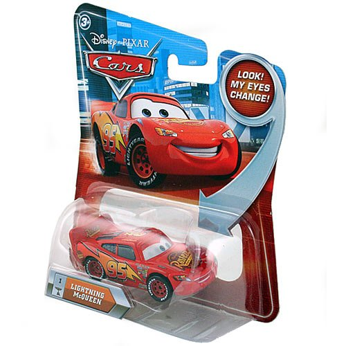 amazoncom lightning mcqueen 1 w lenticular eyes disney pixar cars 155 scale die cast vehicle toys games - Cars The Movie Lightning Mcqueen