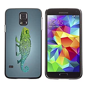 GagaDesign Phone Accessories: Hard Case Cover for Samsung Galaxy S5 - Funky Rainbow Chameleon