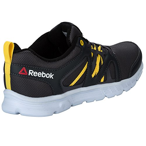 Reebok Speedlux - Zapatillas de running, Hombre Negro / Gris / Amarillo (Coal / Ash Grey / Yellow Spark)