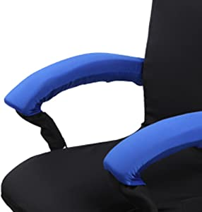 Loghot 2 Set Large Chair Armrests Pillow with Foam Cover Soft Armrest Cushion Pad for Home or Office Chair (Royal Blue)