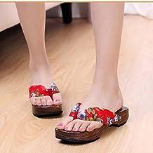 Haoricu Clearance Flat Shoes Japanese Style Women Sandals Summer Platform Shoes Wooden Slippers Girls Flip Flops