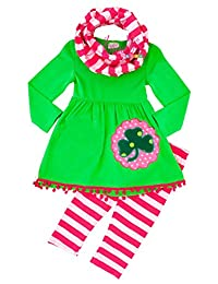 Angeline Girls Boutique Clothing St Patrick's Day Luck of Irish Outfit Scarf Set