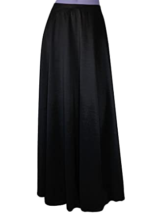 E K Women's plus size long taffeta skirt Maxi evening formal ...