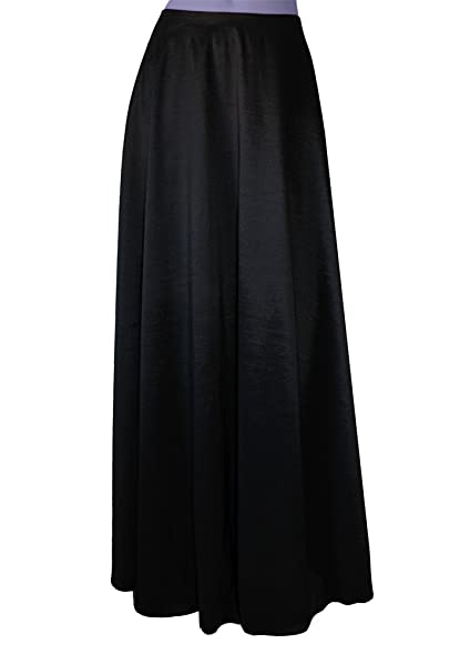 E K Womenu0027s Long Taffeta Skirt Maxi Evening Or Formal Skirt XS Black