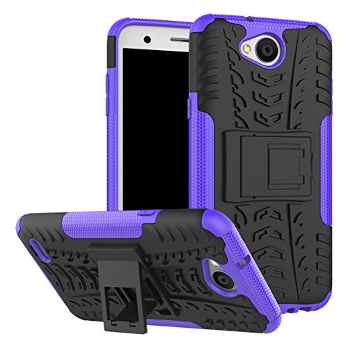 LG X Charge Case,LG Fiesta LTE Case,LG X Power 2 Case,Yiakeng Shock Absorbing Dual Layer Protective Fit Armor Phone Cases Cover Shell For LG Fiesta LTE,X Power 2,LV7 (Purple)