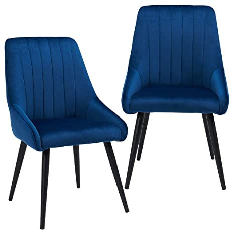 Brilliant Duhome Dining Chairs Set Of 2 For Dining Room Mid Century High Back Velvet Side Kitchen Chairs With Metal Leg For Upholstered Tufted Accent Chair Machost Co Dining Chair Design Ideas Machostcouk
