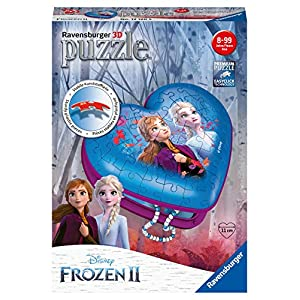 Ravensburger Puzzle Disney Frozen 2 3d A Forma Di Cuore 54 Pezzi Puzzle
