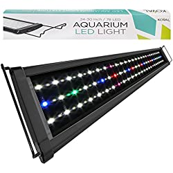 Koval 78 LED Aquarium Light Hood with Extendable Brackets, 24-Inch to 30-Inch