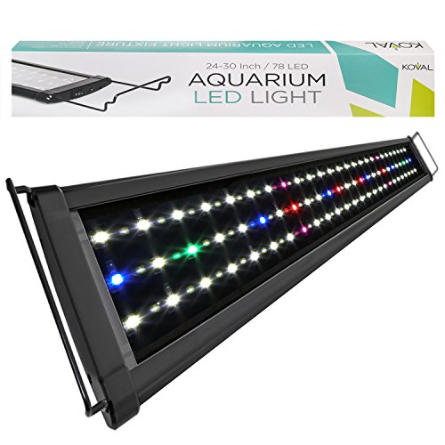 KOVAL-INC-Aquarium-Lighting-Fish-Tank-Light-Hood-with-Extendable-Brackets-White-and-Blue-LEDs